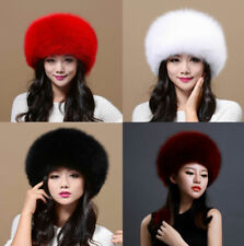 Womens Ladies Real Fox Fur Hat Russian Ushanka Lamb Leather Top Warm Winter p8