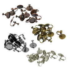 10pcs Jewelry Findings Alloy Screw Earring Findings DIY Ear Hooks Retro 12mm
