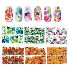 2Sheets/20Pcs Flower Decal Water Transfer Women Manicure Nail Art Stickers Tips