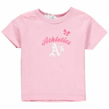 Soft As A Grape Oakland Athletics Girls Toddler Pink Home Run T-Shirt - MLB