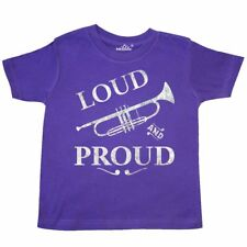 Inktastic Loud And Proud Trumpet Toddler T-Shirt Music Brass Horn Band Musical