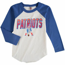 Junk Food New England Patriots Youth White Raglan Long Sleeve T-Shirt - NFL
