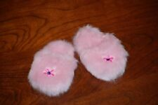 Pink fuzzy slippers - shoes made for American Girl