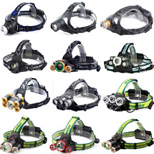 30000LM XML T6 LED USB Rechargeable 18650 Headlight Headlamp Head Torch Zoomable