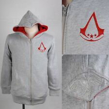 Leger Assassins Creed 3 Light Gray Hoodie Sweater Coat Connor Kenway Unisex