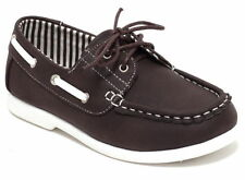 Boys Moccasins Size 23 - 36 Casual Shoes Slip On Shoes Boat Shoes Brown