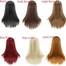 New Fashion Sexy Womens Multicolor Wig Long Straight Anime Cosplay Party Wigs