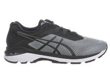 NEW MENS ASICS GT-2000 V6 GEL RUNNING SHOES TRAINERS STONE GREY / BLACK 2E-WIDE