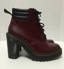 Dr Martens Persephone Womens Lace Up FL 6 Eye PC Ankle Heels Boots