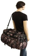 "Large Duffel Bag 30"" Camo Camping Hunting Gear Duffle Shoulder Tote Gym Sports"