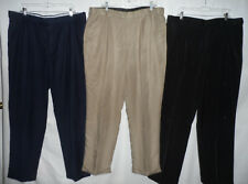 GEORGE 40 x 32 Brown Gray Navy Expandable Stretch Waist Men Dress & Casual Pants