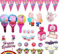 15 Style Peppa pig Flag Topper Box Party Tableware Birthday Decorations Supplies