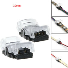 2/4Pin LED Tape Wire Connector for 10mm 5050 RGB Waterproof LED Strip Solderless