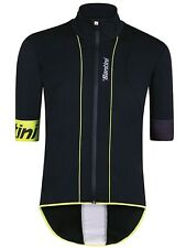Santini Black-Yellow Reef Short Sleeved Cycling Jersey