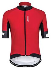 Santini Red 2016 Beta Windstopper Short Sleeved Cycling Jersey