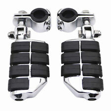"1-1/4"" Highway Foot Pegs Footrest Engine Guard Mounts Clamps For Harley Davidson"