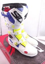 SIDI CROSSFIRE 2 SRS - Motocross MX Enduro OFF-ROAD Boots - Yellow/White/Blue