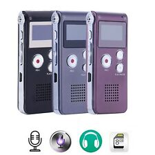 New Rechargeable 8GB Digital Audio Sound Voice Recorder Dictaphone MP3 Player