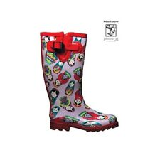 RABEN RABEN GUMBOOTS/WELLIES/RAINBOOTS RED BABUSHKA