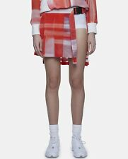 adidas Y-3 by Yohji Yamamoto Women's Asymmetrical Wrap Mini Skirt Red Coral ~S,M