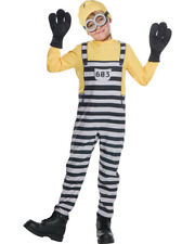 Child's Boys Despicable Me 3 Jailed Minion Dave Prisoner Costume