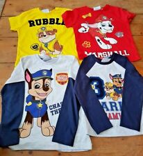 Primark Nickelodeon Paw Patrol boys long sleeve tshirt t-shirt tee 2-3-4-5-6 yrs