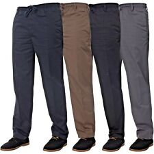 New Mens Kruze Rugby Trousers Elasticated Pants Relaxed Regular Fit Big Sizes