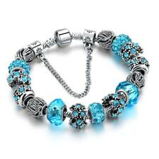 2018! European Crystal Charm Bracelets For Women With DIY Glass Beads Bracelets