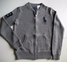 NWT Boys Polo Ralph Lauren Big Pony Full Zip Sweater, Size L(14-16), M(10-12)