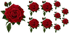 Painted Rose Flower Decals Stickers Crafting Nursery Wall Window Decoration Art