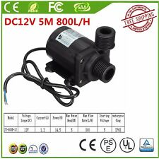 DC12V 14.5W Pool Water Pump 800L/H 5M IP68 Brushless Motor Submersible Pump BS