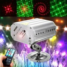 Voice Control Music Rhythm Flash Light LED Laser Projector Stage Light Party BS