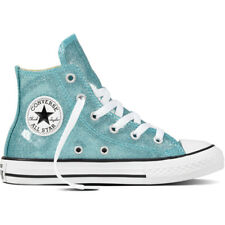 Converse Chuck Taylor All Star Glitter Hi Bleached Aqua Synthetic Youth