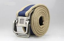 Men New Fashion Casual Canvas Material Metal Buckle Decorative Belt C134