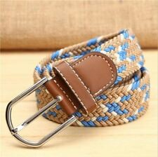 32 Color New Fashion Canvas Material Metal Buckle Stretch Belt For Men E437
