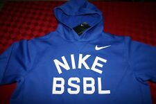 BOYS NIKE BASEBALL PULL OVER HOODIE JACKET ELECTRIC BLUE & WHITE YOUTH XL NWT