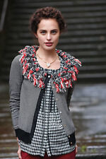 EUC Anthropologie Women Piled Stripes Cardigan sz S Sold Out Rare Blogger Fave