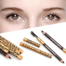 Leopard Print Makeup Double Ended Eyebrow Pencil Brush Handy Cosmetic Natural