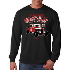 West End Race Shop Hot Rat Rod Car Auto Racing Long Sleeve T-Shirt Tee
