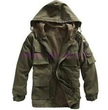 Chic Mens Jacket Military Cotton Winter Fleece Hoody Warm Casual Coat Outerwear
