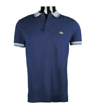 Lacoste men's polo shirt regular fit piped pique polo Navy s m l xl 2xl