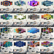 5pcs Self Adhesive Unframed Canvas Oil Painting Print Abstract Art Picture