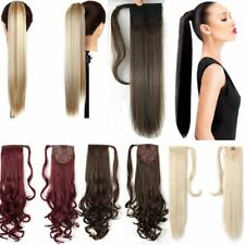 US Lady New Clip In Hair Extension Pony Tail Wrap Around Ponytail as human Style