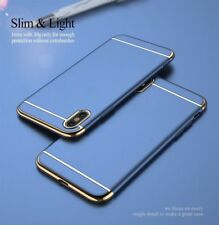 Luxury Metal Bumper Hard Slim Ultra Thin Shockproof Cover For iPhone X Case