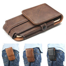 Universal Leather Belt Clip Pouch Holster Case Cover Bag for iPhone 8 6s 7 Plus