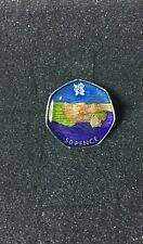 Enamelled Coin 2012 AQUATICS Olympics 50P COIN 2011 SWIMMING Fifty Pence