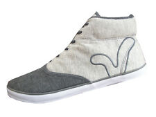 VOI FIERY MIRACLE MENS CANVAS MID BOOT 2 TONE GREY MENS SIZES 6 TO 11