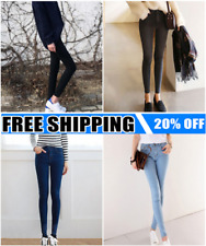 Women High Waist Skinny Jeggings Pencil Pants Slim Stretch Denim Jeans Lot ST