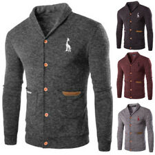 Men's Casual Slim Knitted Cardigan Fashion Sweater Short Coat Jacket Tops L-2XL