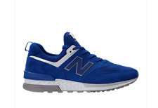 New! New Balance 574 Sport Mens Synthentic Casual Shoes sneaker Blue/White Gray